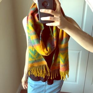Beautiful long Aztec print vintage scarf